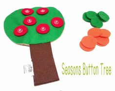 Seasons Felt Button Tree Fine Motor Activities For Kids, Activities Of Daily Living, Preschool Activities, Different Seasons, Different Colors, Button Tree, Red Apple, Felt Crafts, New Product