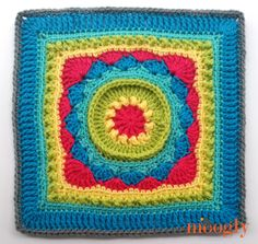 MooglyCAL2017 - Block #9, courtesy of CrochetN'Crafts! Come join this FREE yearlong crochet along on Mooglyblog.com!