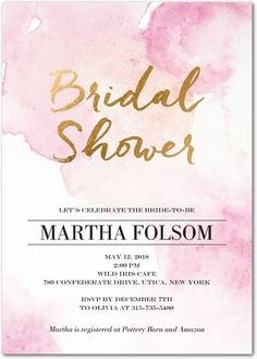 Watercolor Euphoria - Signature White Textured Bridal Shower Invitations - Mindy Weiss - Lipstick - Pink : Front