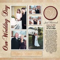 I probably should think about doing our wedding album, given it's been over a decade...