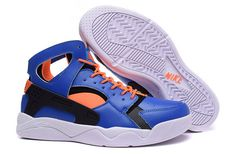 timeless design 2f509 c48b4 Nike Air Flight Huarache Knicks Blue Hero Total Orange White April 2018 New  Arrival
