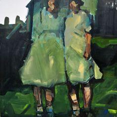 Ruth Franklin, untitled (farm - RF6017), 2009, acrylic on canvas, 36x36 inches, SOLD