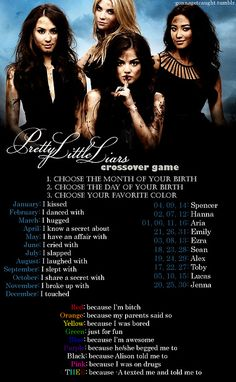 Pretty Little Liars Game! I broke up with Ezra because A texted me and told me to!