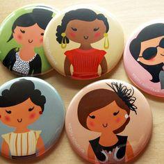 ff girls pocket mirrors   by fashion fucsia via Etsy