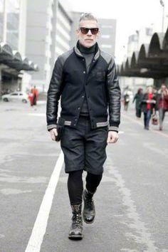 Black varsity jacket outfit