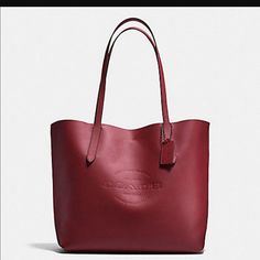 efe5cbe54950 Coach Leather Tote In Brick Wrapping