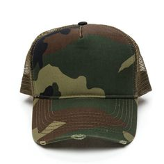 Keeping It Camo Trucker Hat (32 SAR) ❤ liked on Polyvore featuring accessories…