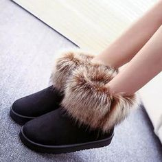 Ericdress Fashion Suede Snow Boots Flat Boots