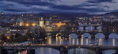 Popular on 500px : The bridges of Prague by clgam