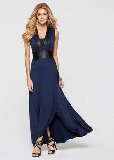 Jurk, BODYFLIRT boutique, donkerblauw/zwart