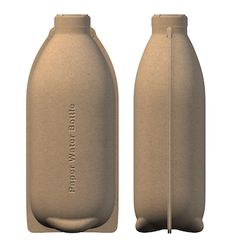 Paper Water Bottle® - the of its kind in the world - meets both consumer demand and brand owner requirements for real eco-friendly solutions. Paper Water Bottle is a pulp packaging and product company integrating best-in-class strategic assessment, Paper Water Bottle, Water Paper, Water Bottle Design, Paper Packaging, Bottle Packaging, Packaging Design, Custom Packaging, Label Design, Branding Design