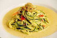 Zesty Zucchini Spaghetti - vegan, gluten free & raw http://www.theroadnottaken.com.au/#!zesty-zucchini-spaghetti/c1s4r