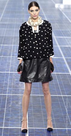Spring 2013 Trend Reports: Black & White @Chanel