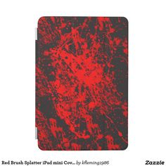Red Brush Splatter iPad mini Cover