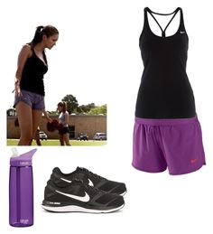 """""""Elena Gilbert Sport Outfit - tvd / the vampire diaries"""" by shadyannon ❤ liked on Polyvore featuring NIKE and CamelBak"""