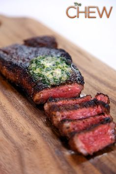 Michael Symon's Strip Steak with Compound Butter #TheChew