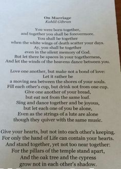 Marriage Poems On Pinterest