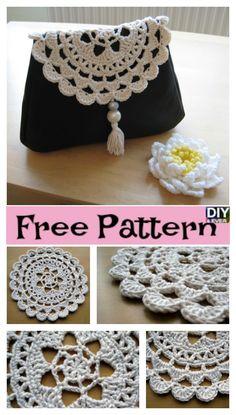 Crochet Passion Flower Doily – Free Pattern #freecrochetpattern #crochetpattern #crochetflower #doily