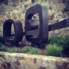 """The abstract sculpture by Julie Speidel that welcomes people to Shafer is named """"Aganippe"""" after an ancient Greek fountain on the slopes of Mt. Helicon that was believed to give poetic inspiration to all who drank from it. Hoping you'll visit soon and enjoy the pure poetry of our vineyard surroundings and an inspiring taste of our wines."""