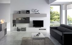 COMEDOR Nº 61 - Isabel Miró Tv Feature Wall, Tv Unit, Flat Screen, Projects To Try, Ideas Decoración, House Ideas, Vestidos, Dining Room Furniture, Tv Unit Furniture