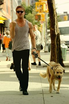 guys who walk their dogs are sexy (esp if they're Ryan Gosling)