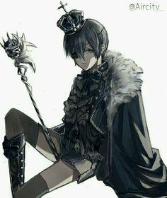 Black Butler Sebastian, Black Butler Ciel, Black Butler Kuroshitsuji, Manga Anime, Anime Couples Manga, Cute Anime Couples, Manga Girl, Anime Girls, Anime Art