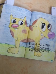 #wreckthisjournal #journal #catdog