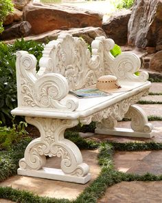 Shop Roman Garden Table & Bench from Neiman Marcus at Horchow, where you'll find new lower shipping on hundreds of home furnishings and gifts. Furniture Sale, Garden Furniture, Outdoor Furniture, Geek Furniture, Furniture Market, Furniture Movers, Lounge Furniture, Pallet Furniture, Antique Furniture