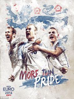 Inglaterra: Harry Kane, Wayne Rooney y Jamie Vardy / más que el orgullo - Florian Nicolle