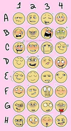 Draw Facial Expression Another Expression Meme ! by spuddypotat - Drawing Reference Poses, Drawing Poses, Drawing Tips, Drawing Practice, Expression Challenge, Drawing Challenge, Emoji Challenge, Facial Expressions Drawing, Facial Expression Memes