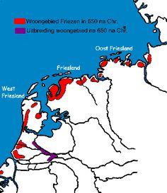 Woongebied Friezne in 650 na Christus