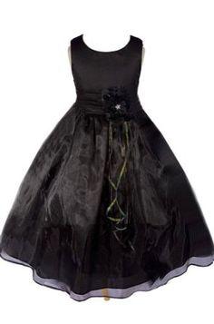 AMJ Dresses Inc Girls Black Flower Girl Pageant Dress Sizes 2 to 12:Sale:$29.99