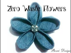 Sewing Fabric Flowers Zero Waste Upcycled DIY Denim or Fabric Flower Tutorial - Have an old pair of jeans or other clothing that's no longer wearable and some decorative stray buttons laying around? Why not upcycle them into… Denim Flowers, Fabric Flowers, Leather Flowers, Diy Projects For Kids, Sewing Projects, Craft Projects, Kids Diy, Sewing Tutorials, Project Ideas