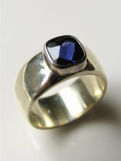 Handmade New Zealand contemporary jewellery,handmade,designer gold and silver Custom Jewelry, Handmade Jewelry, Deep Purple, Blue, Contemporary Jewellery, Gemstone Rings, Rings For Men, Silver Rings, Jewels