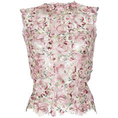 Tulle Flowers Embroidered Top by Luisa Beccaria Pink Tops, Floral Tops, Tulle Flowers, Pink Tulle, Floral Print Shirt, Floral Blouse, Luisa Beccaria, Embroidered Shirts, Shirt Embroidery