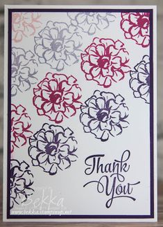 Stampin' Up! UK Feeling Crafty - Bekka Prideaux Stampin' Up! UK Independent Demonstrator: What I Love Thank You Cards