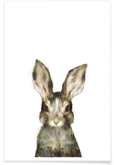 Little Rabbit als Premium Poster von Amy Hamilton | JUNIQE
