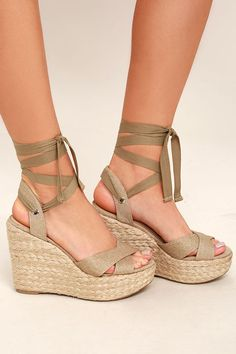 b28ea25c02 9 Best Lace up wedges images | Wedge heels, Wedges, Boots