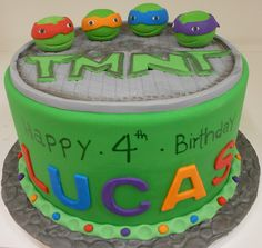Teenage Mutant Ninja Turtles Cake! Perfect for Dylan's 4th Birthday!