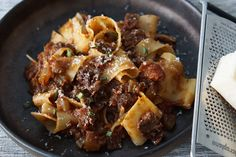 This article has links to products and services we recommend, which we may make commission from.This slow cooker Beef Ragu with Pappardelle is one of my favorite comfort food dishes. The tender beef … Pasta Dishes, Food Dishes, Main Dishes, Pappardelle Pasta, Beef Recipes, Slow Cooker Beef, Food Menu, Comfort Foods