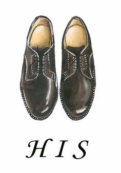 Shoes print Shoe art Fashion illustration by IvanaIllustrations