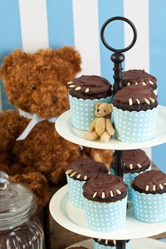 Teddy bear theme cupcakes baby shower per maschietti, dessert per baby Teddy Bear Baby Shower, Baby Shower Niño, Baby Shower Cupcakes, Shower Cakes, Themed Cupcakes, Fun Cupcakes, Cupcake Cakes, Nautical Cake Pops, Cakes Plus