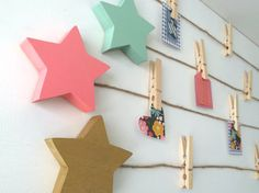 Star Art Display Clips Star Art Cable Gold Coral by MapleShadeKids