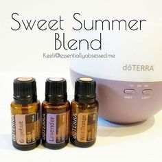 I have been diffusing the Sweet Summer Blend all week and absolutely love it!! In your diffuser combine 3 drops each Grapefruit, Lavender and Wild Orange and enjoy the uplifting / relaxing aroma! #doTERRA #essentialoils #oils