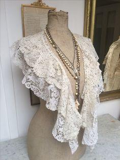 Needlelace collars