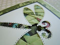 Iris Folded Dragonfly from Scrapbook Snippets