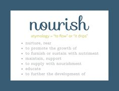one little word nourish