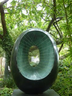 barbara hepworth - depth, curves, polished surface  Barbara Hepworth Sculpture Garden, St Ives, Cornwall