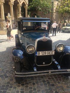 vintage car & Stavropoleos Monastery