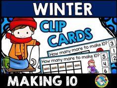 #WINTER #MATH #TASK #CARDS: #MAKING #TEN: #sleds #ten #frames